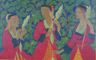 les-trois-fileuses-aux-feuilles-de-chene