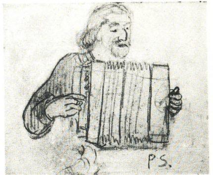paul-gauguin-en-costume-breton-jouant-de-laccordeon
