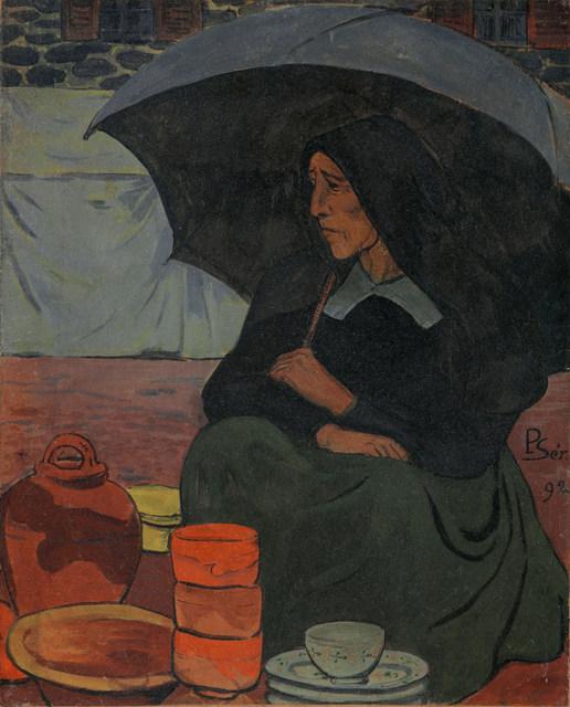 marchande-de-poterie-parapluie